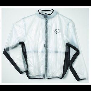 Fox clear windbreaker/rain jacket sz L